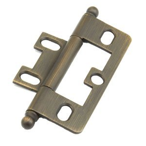 Schaub and Company - Ball Tip Non-Mortise Hinge in Antique Light Brass