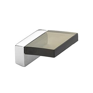 "Schaub and Company - Positano - 5/8"" Centers Angled Square Pull in Chrome Smoke"