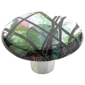 "Schaub and Company - Ice - 1 1/2"" Diameter  Round Knob in Confetti Turqouise"