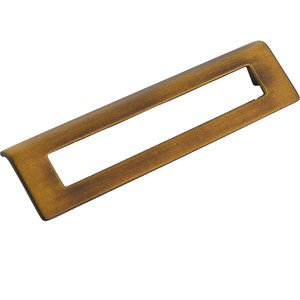 "Schaub and Company - Finestrino - 6 1/4"" Centers Angled Rectangle Pull in Burnished Bronze"