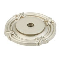 "Schaub and Company - Versailles - Solid Brass Satin Nickel 1 1/2"" (38mm) Round Backplate"