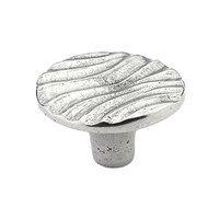 "Schaub and Company - Viento - 1 1/4"" Round Knob in Natural Britannium"