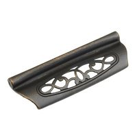 "Schaub and Company - Firenza - 3 3/4"" (96mm) Centers Cup Pull in Dark Bronze"