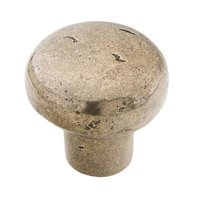 "Schaub and Company - Mountain Cast Bronze - 1 3/8"" Round Knob in Italian Nickel"