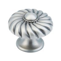 "Schaub and Company - Casual Elegance - 1 3/8"" Light Antique Nickel Knob"