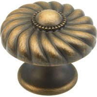"Schaub and Company - Casual Elegance - 1 3/8"" Diameter Knob in Redington Brass"
